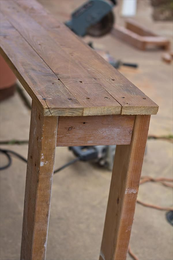 Sofa Table Made From Pallets 99 Pallets Diy Console Table Diy Console Diy Furniture