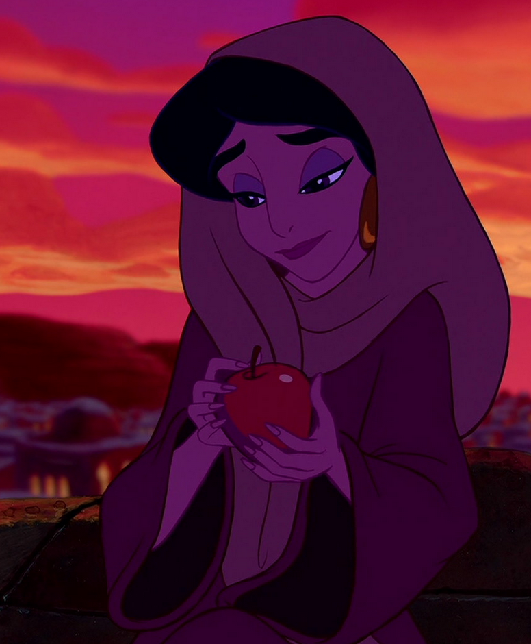 Princess Jasmine, flawless as always, even in a peddler's disguise
