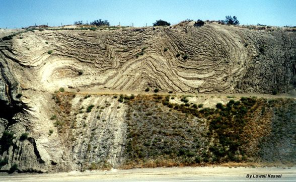 Highway 14 In Southern Californian Andreas Fault Colorful