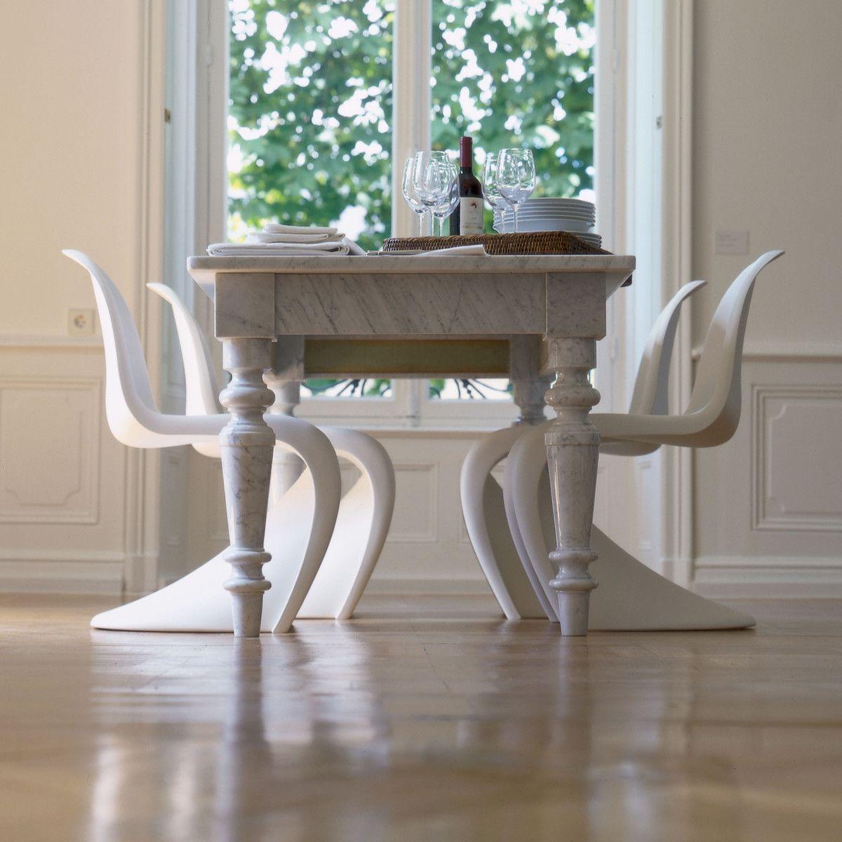 Vitra Panton Chair Weiss Marmor Esstische Panton Chair Und
