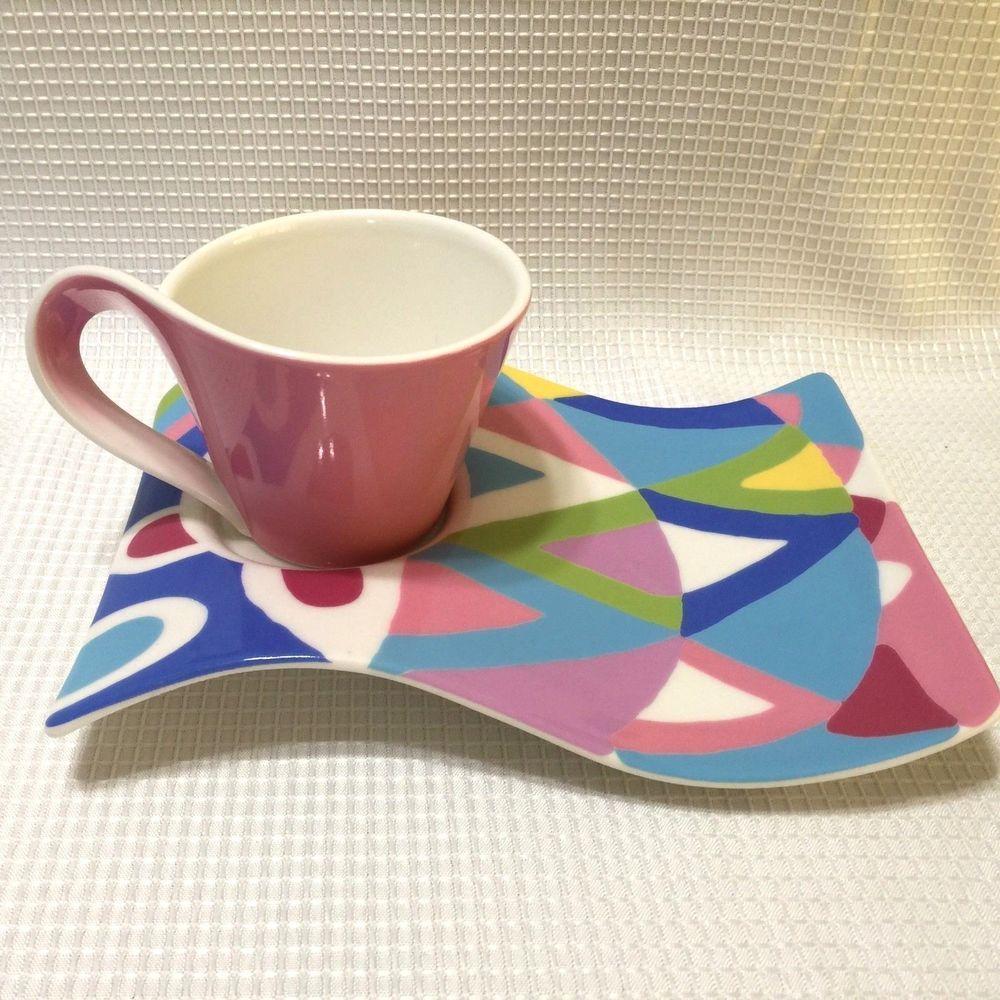 Details About Villeroy Boch Cappuccino Set Snack Plate Cappuccino Cup Coffee Tea Cappuccino Cups Snack Plate Cappuccino