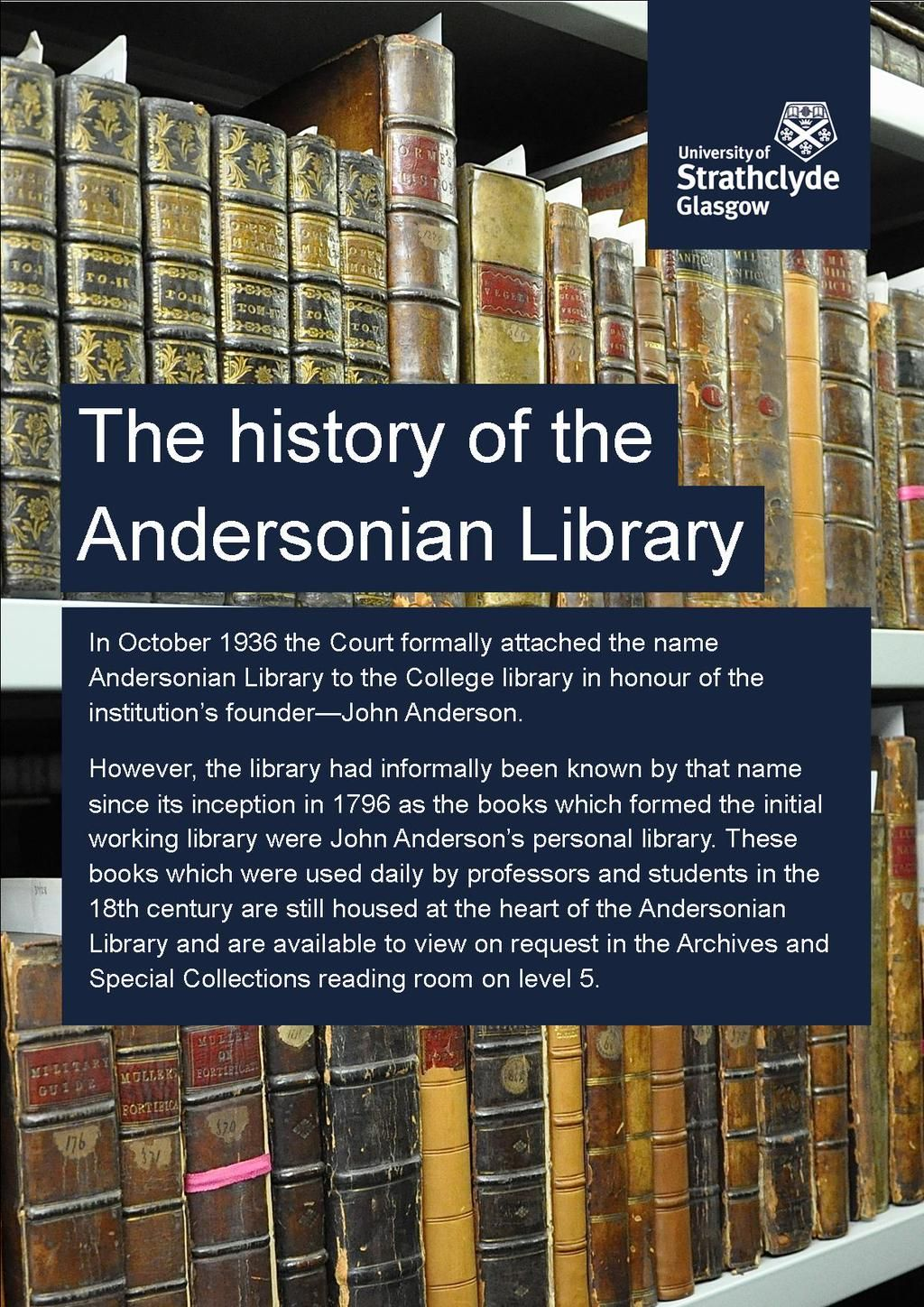 Discover the history of the Andersonian Library  | Archives