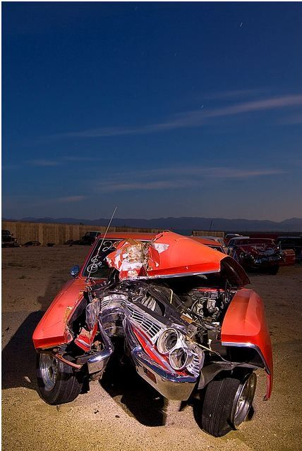 Wrecked Muscle Cars Automotive Wrecks Cars Muscle Cars A Drag Cars