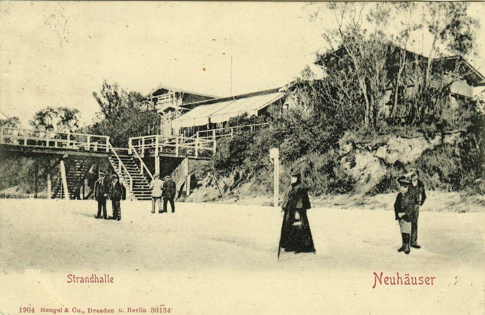 Neuhäuser b/ Palmnicken = Проковское Янтарный  Strandhalle  AK 1904 !!