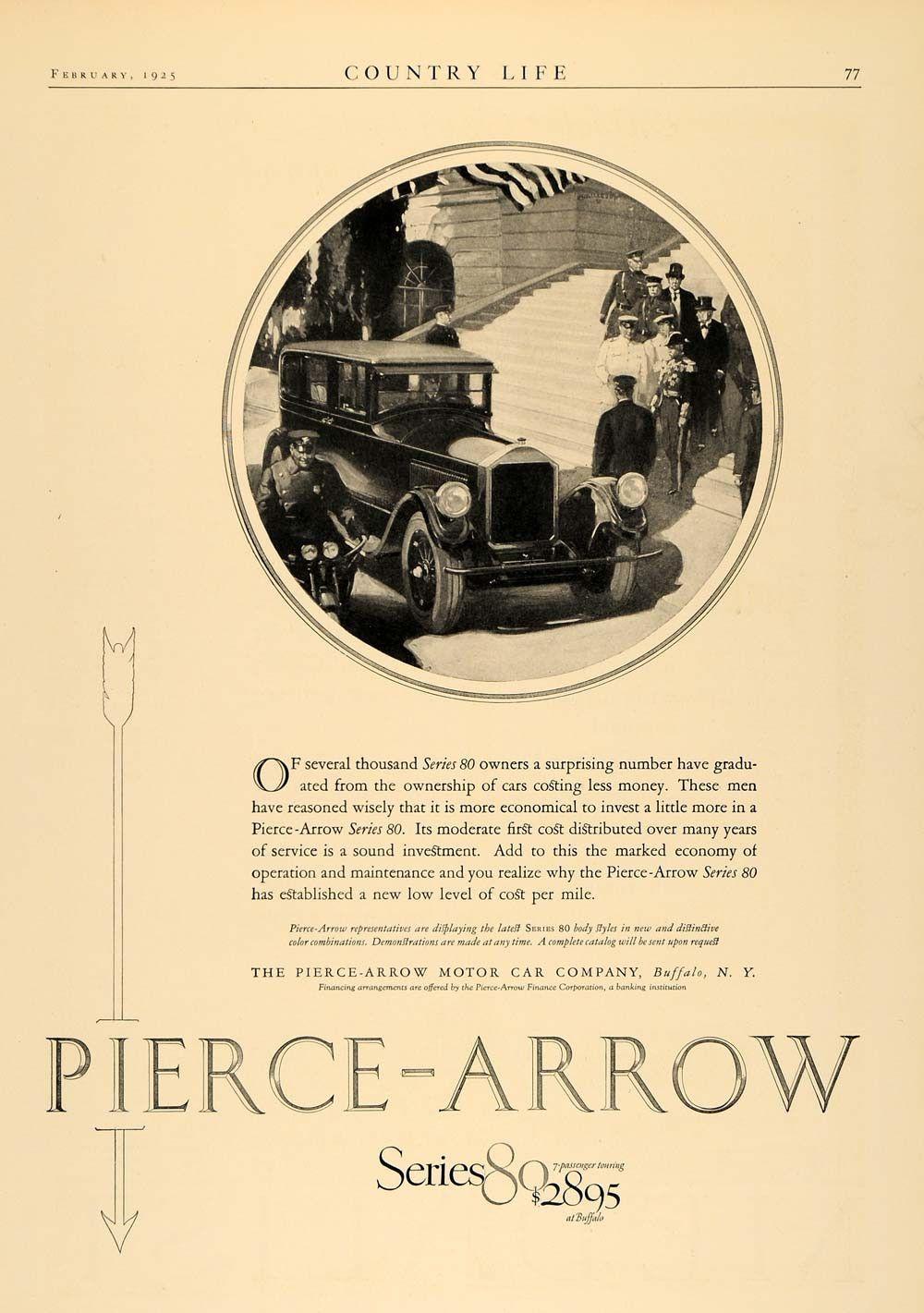 1925 Ad Pierce Arrow Series 80 Pricing Buffalo New York - ORIGINAL ...
