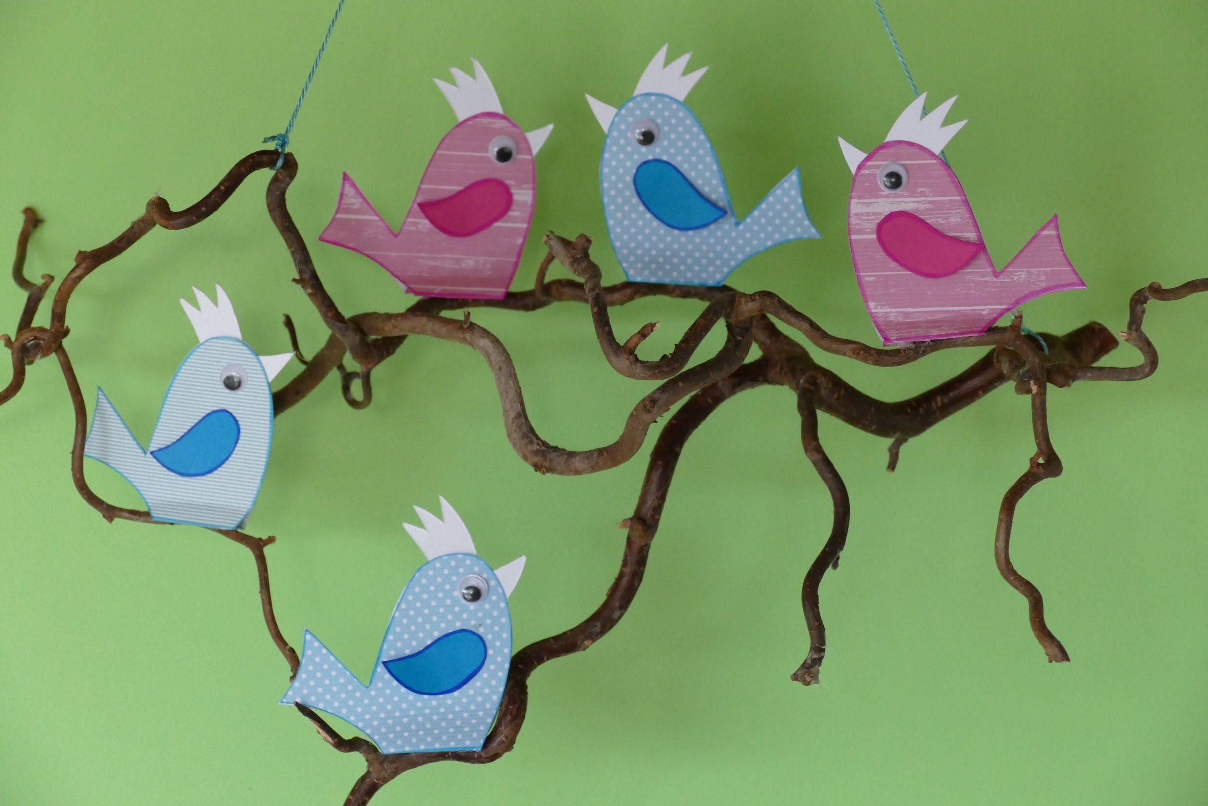 Baby Mobile Mit Vogelchen Bastelvorlage Plotterfreebie