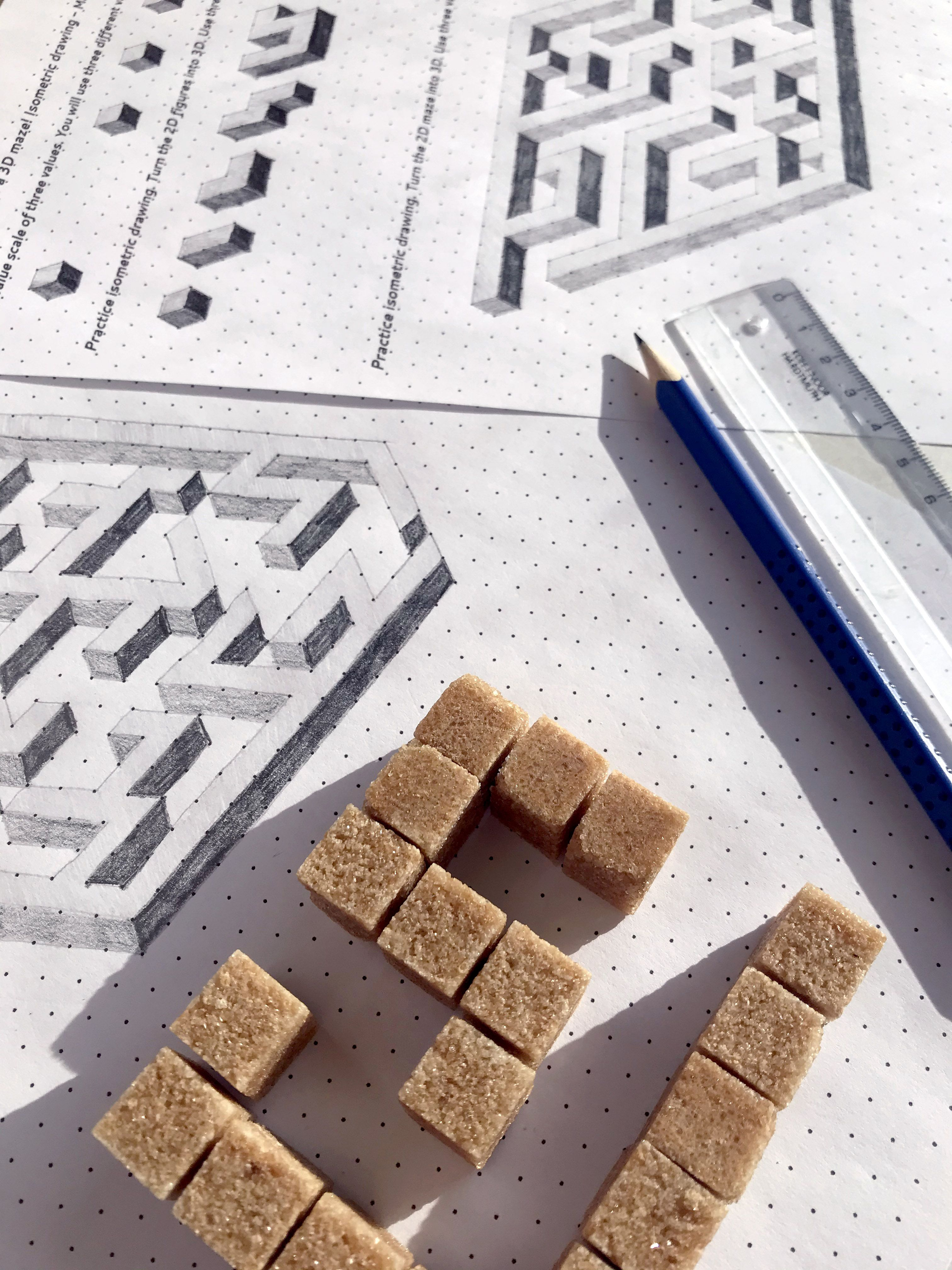 Draw A 3d Maze Isometric Drawing Lesson With Video For