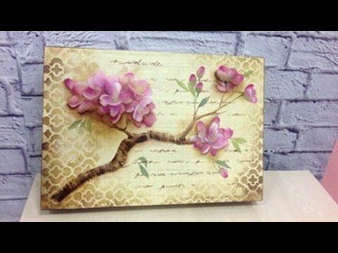 Curso online pintura com est ncil flor de cerejeira for Pintura para decoupage