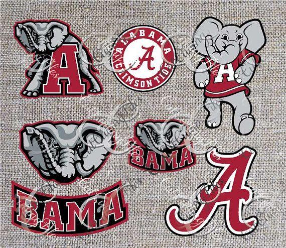 University of alabama crimson tide tuscaloosa logo svg dfx jpg jpeg eps layered cut cutting files
