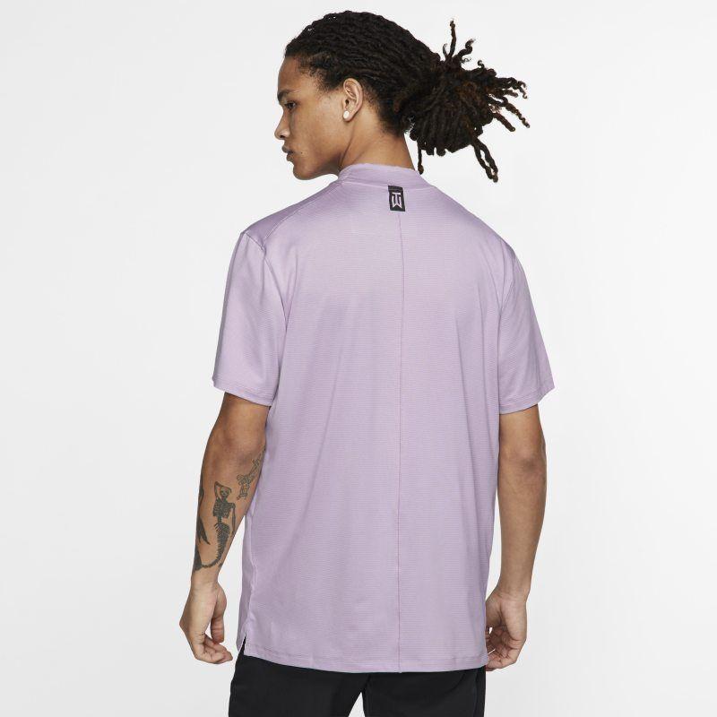 91d71ea9 Nike Dri-FIT Tiger Woods Vapor Men's Mock-Neck Golf Top - Purple in ...