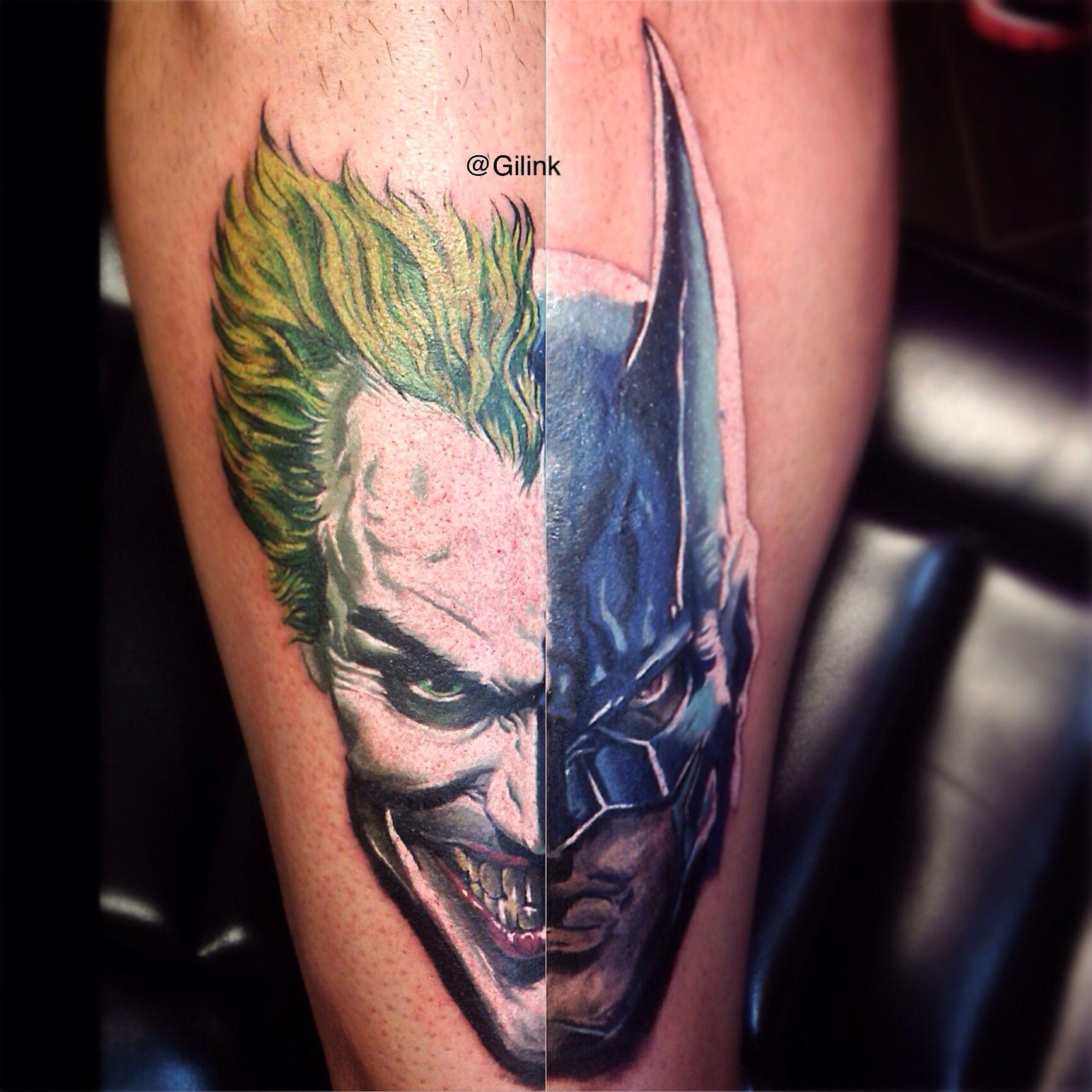 batman joker dc comics color tattoo tattoos portrait gotham harley quinn tattoos. Black Bedroom Furniture Sets. Home Design Ideas