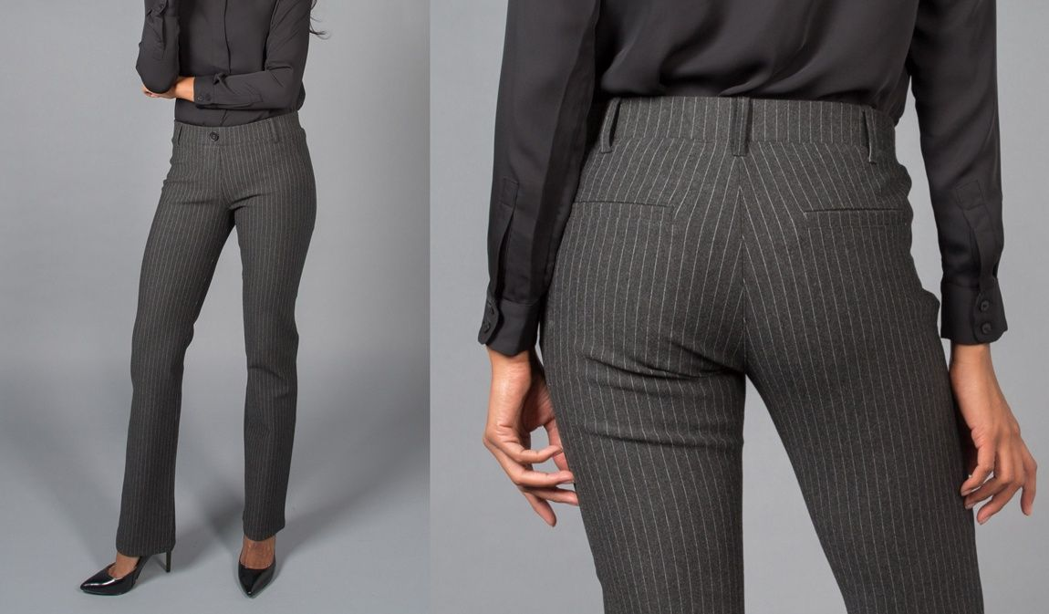 Straight-Leg | Silver Dress Pant Yoga Pants | Women's dress pants ...