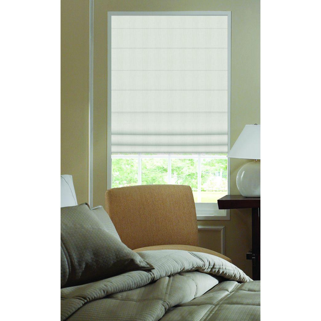 Ivory ashton stripe inch plain fold roman shades w x h