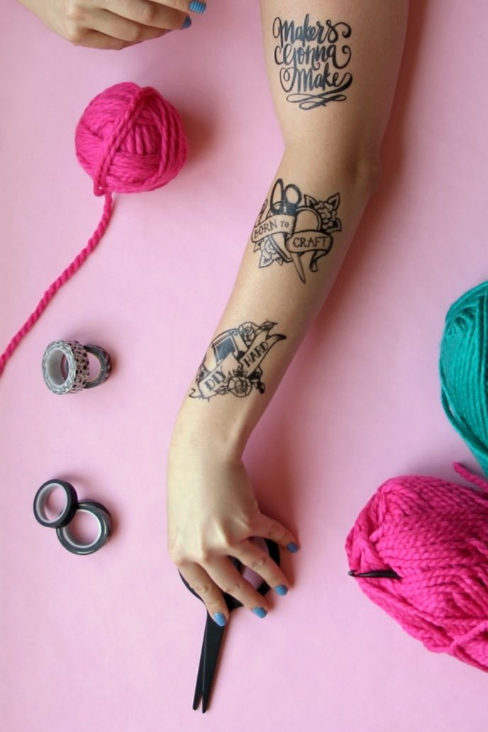 Here's how to make a set of DIY fake tattoos.