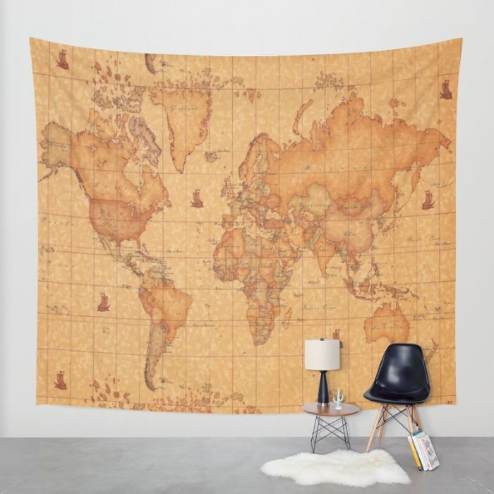 World map leather wall tapestry leather wall tapestry and wall world map leather wall tapestry gumiabroncs Gallery