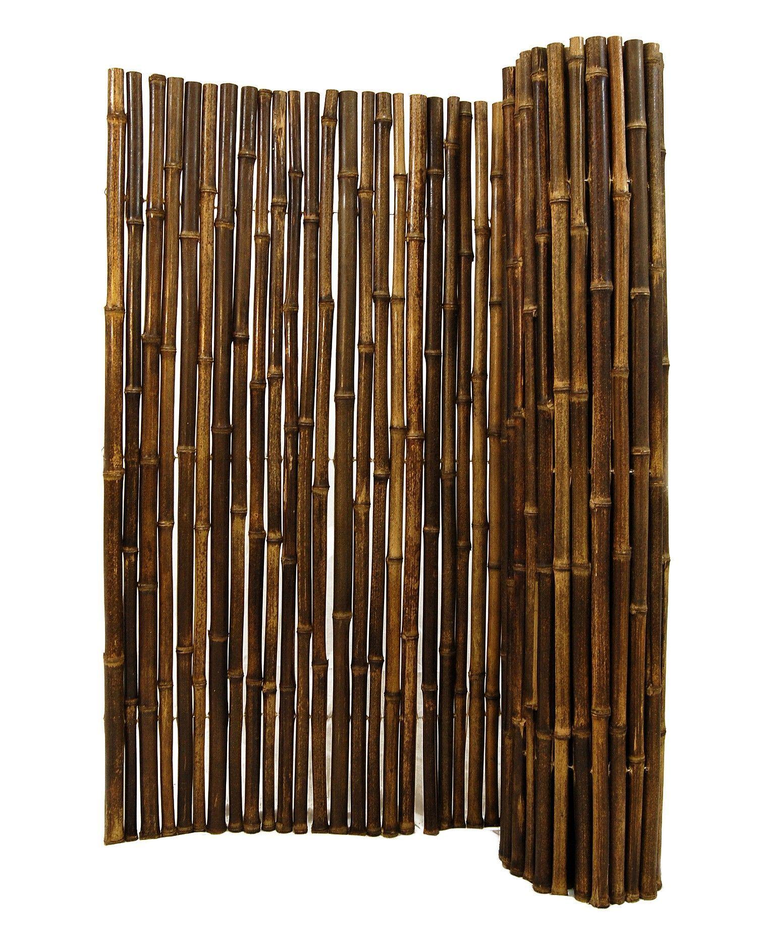 Naturlicher Schwarz Gerollter Bambus Der 1 Quot X 8 Quot X 8
