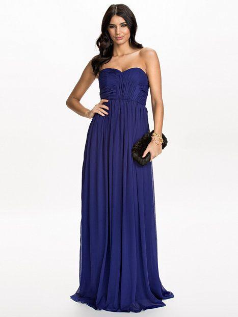 Strapless Draped Dress - Nly Eve - Midnight Blue - Festklänningar - Kläder  - Kvinna - Nelly.com 0240b2fa34ac4