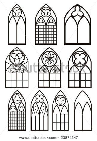 86 Gothic Window Outline New Gothic Church Window Style