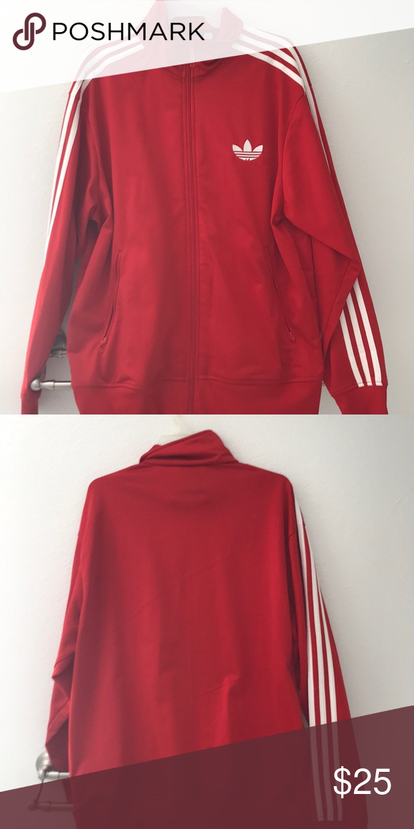 c27a67a61a6f Red Adidas Track Jacket Large Red   White Adidas Originals Track Jacket  Large. Only worn a couple of times. adidas Jackets   Coats Performance  Jackets