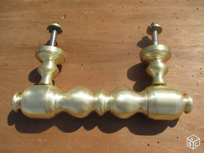 Ancienne et grande poignée laiton porte du0027entrée Décoration Hérault - dimensions porte d entree