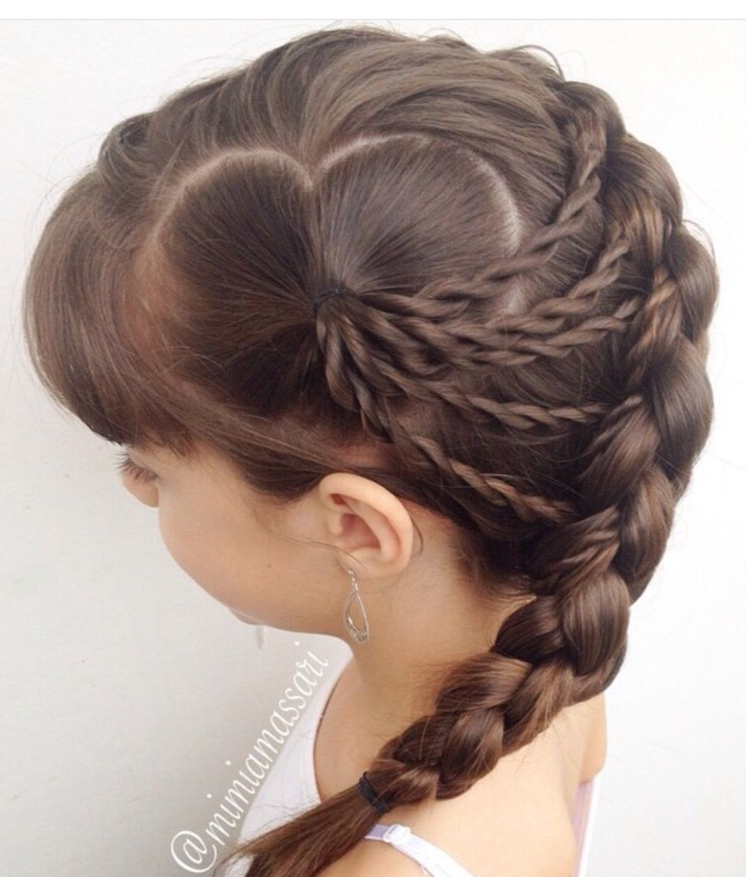 Really cute hairstyle for kids and valentines holiday