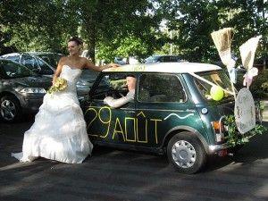 voiture balai deco voiture pinterest mariage and wedding. Black Bedroom Furniture Sets. Home Design Ideas