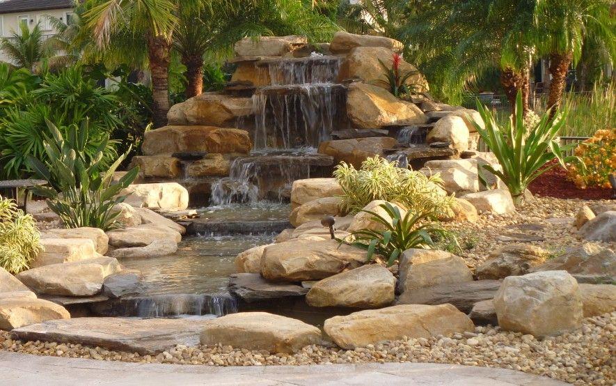 Backyard Waterfall, Stream And Pond