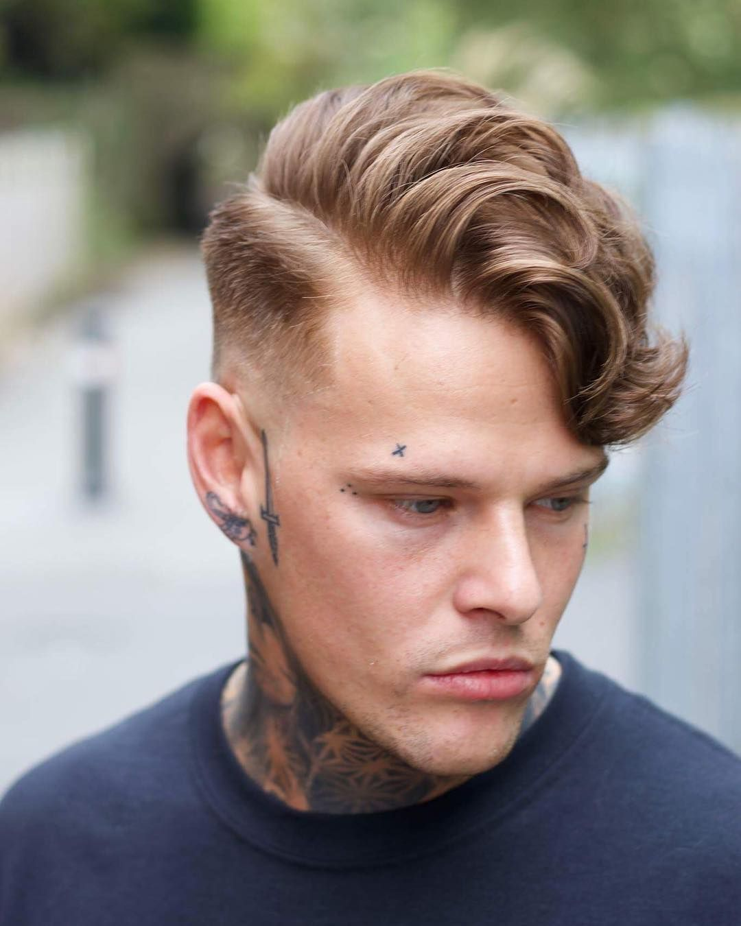 Alan Beak Low Fade And Long Fringe Mens Hairstyle
