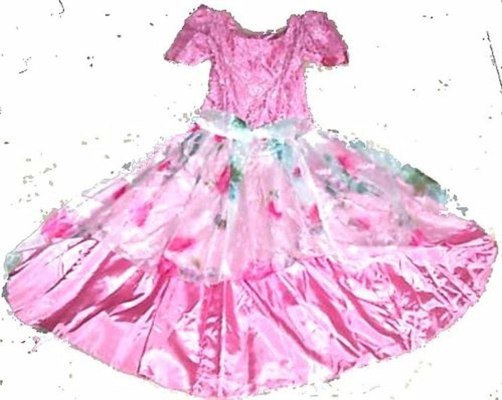 Pink Taffeta A Line Cinderella Dress Princess Dress 4 Halloween Size ...