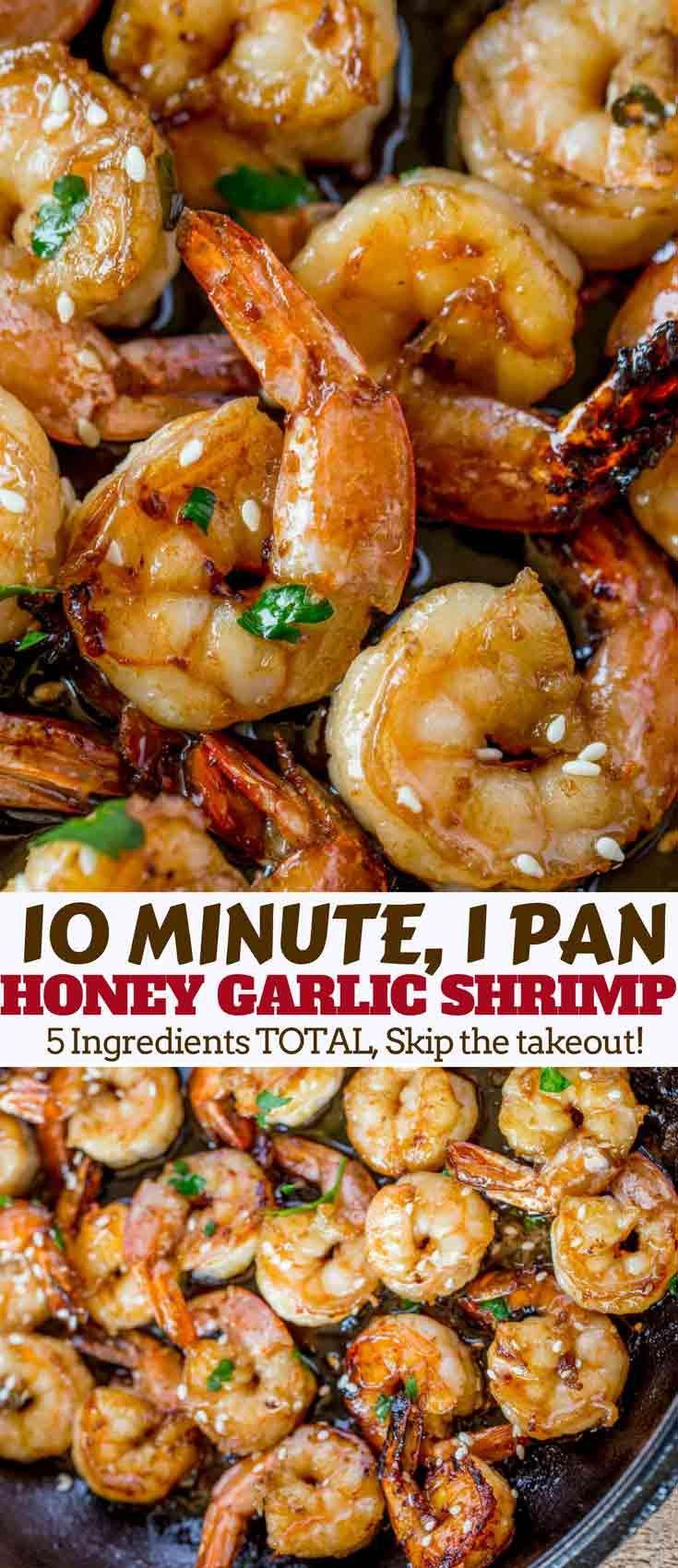 Easy Honey Garlic Shrimp - Dinner, then Dessert