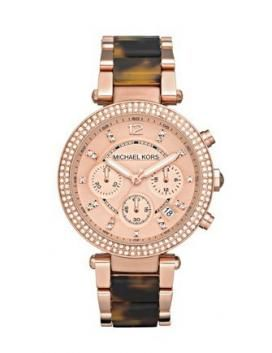 Watch Tortoise Acetate Golden Michael Stainless Rose Kors And Steel IfvbY76gy