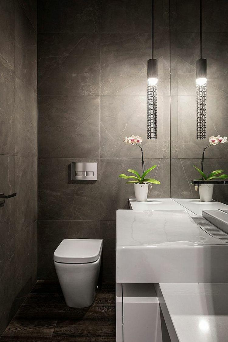 Im gäste wc ist die beleuchtung von großer bedeutung