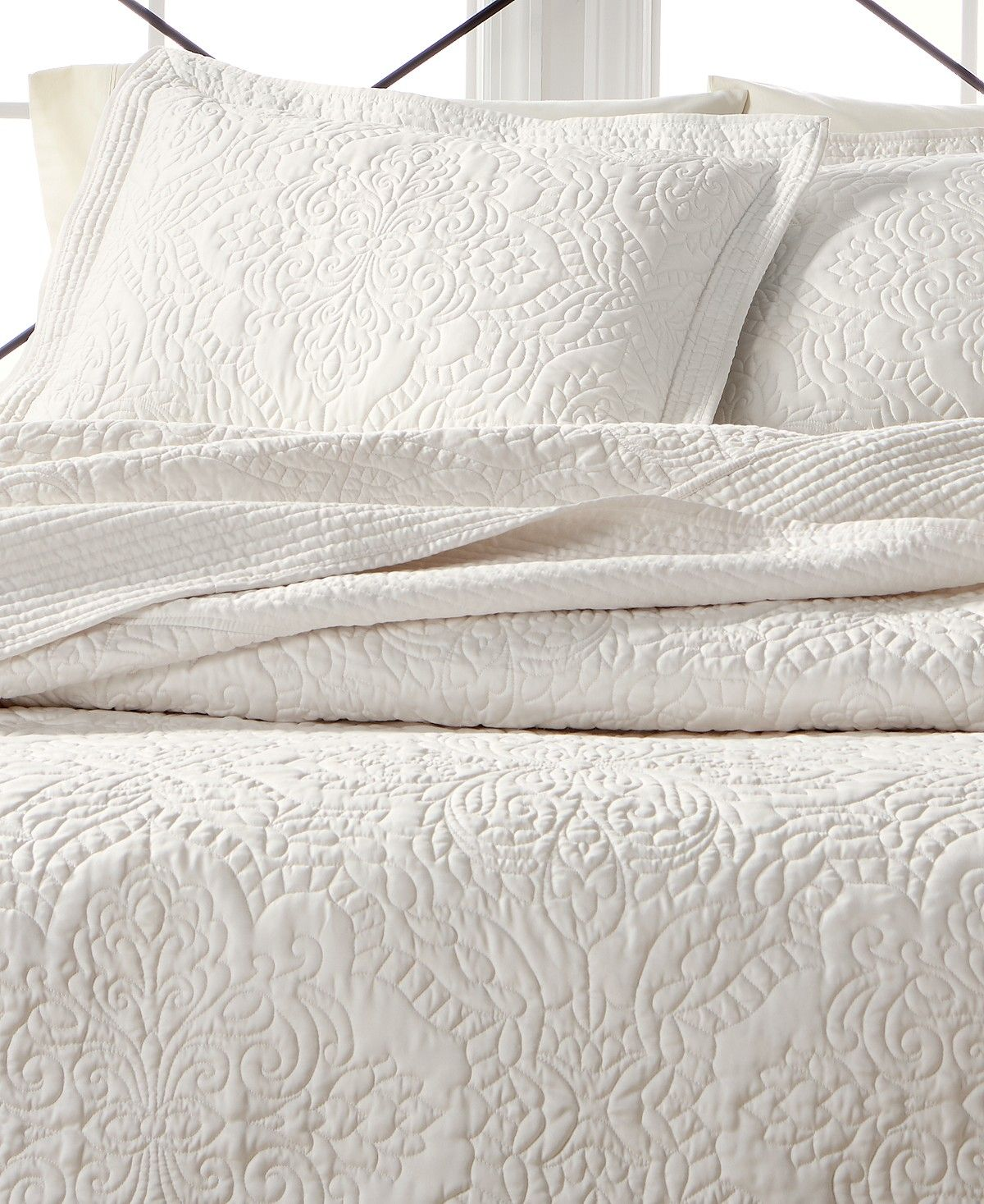 Martha Stewart Collection Lush Embroidery Queen Bedspread Created