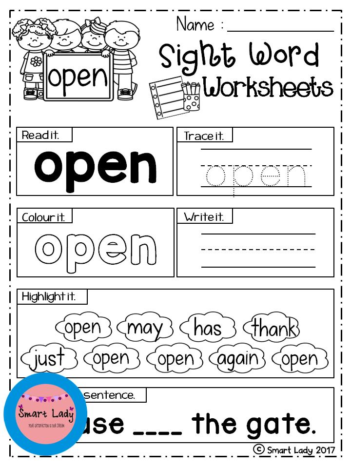 Sight Word Worksheets (First Grade) | Pinterest