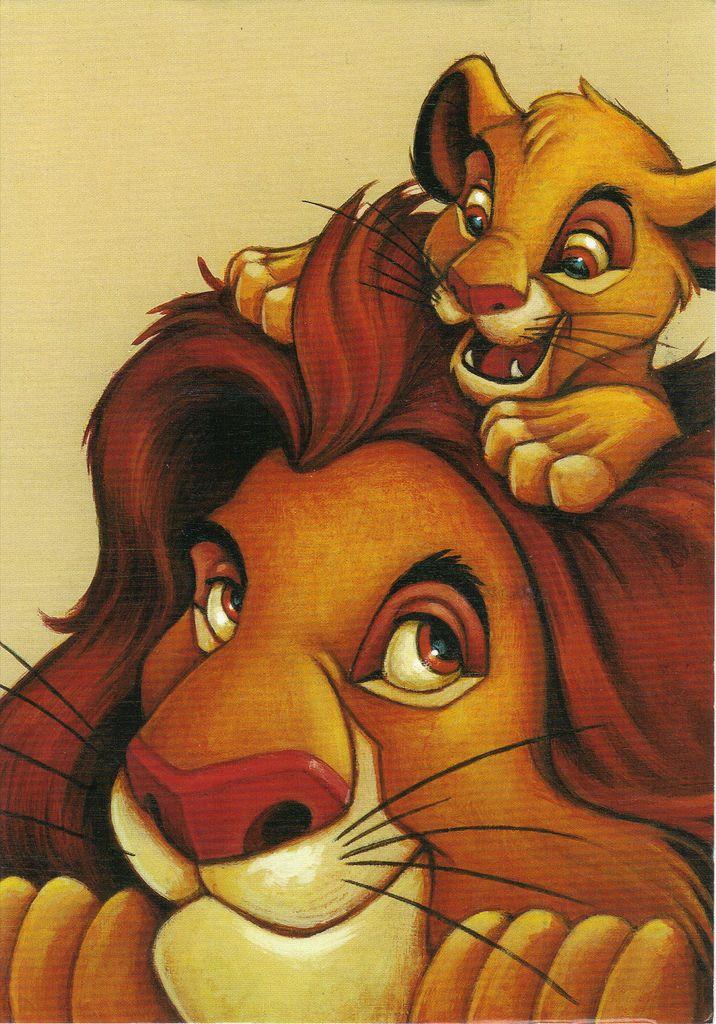 USPS The Art Of Disney Friendship Lion King Postcard