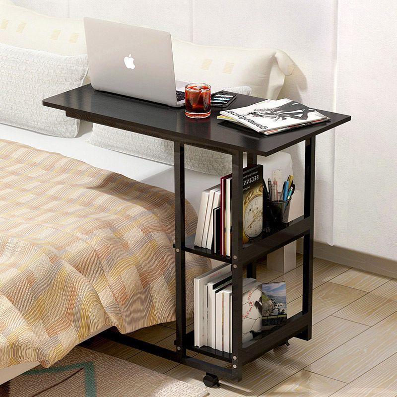 Supreme Sofa Bed Side Table Laptop Desk With Shelves Wheels Computer Desks For Home Home Furniture Furniture