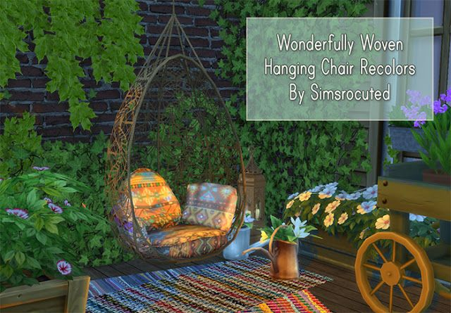 hanging chair the sims 4 glider parts bearings cc s best recolors by simsrocuted