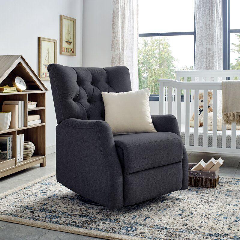 Harriet Bee Cooney Upholstered Glider Reviews Wayfair Swivel Rocker Chair Rocker Chairs Upholster