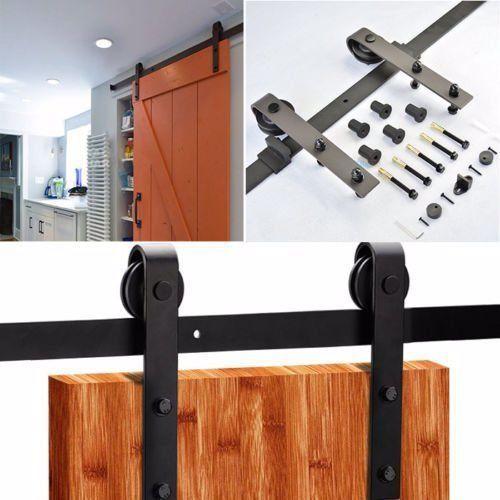 Hardware for sliding wooden barn door sliding door