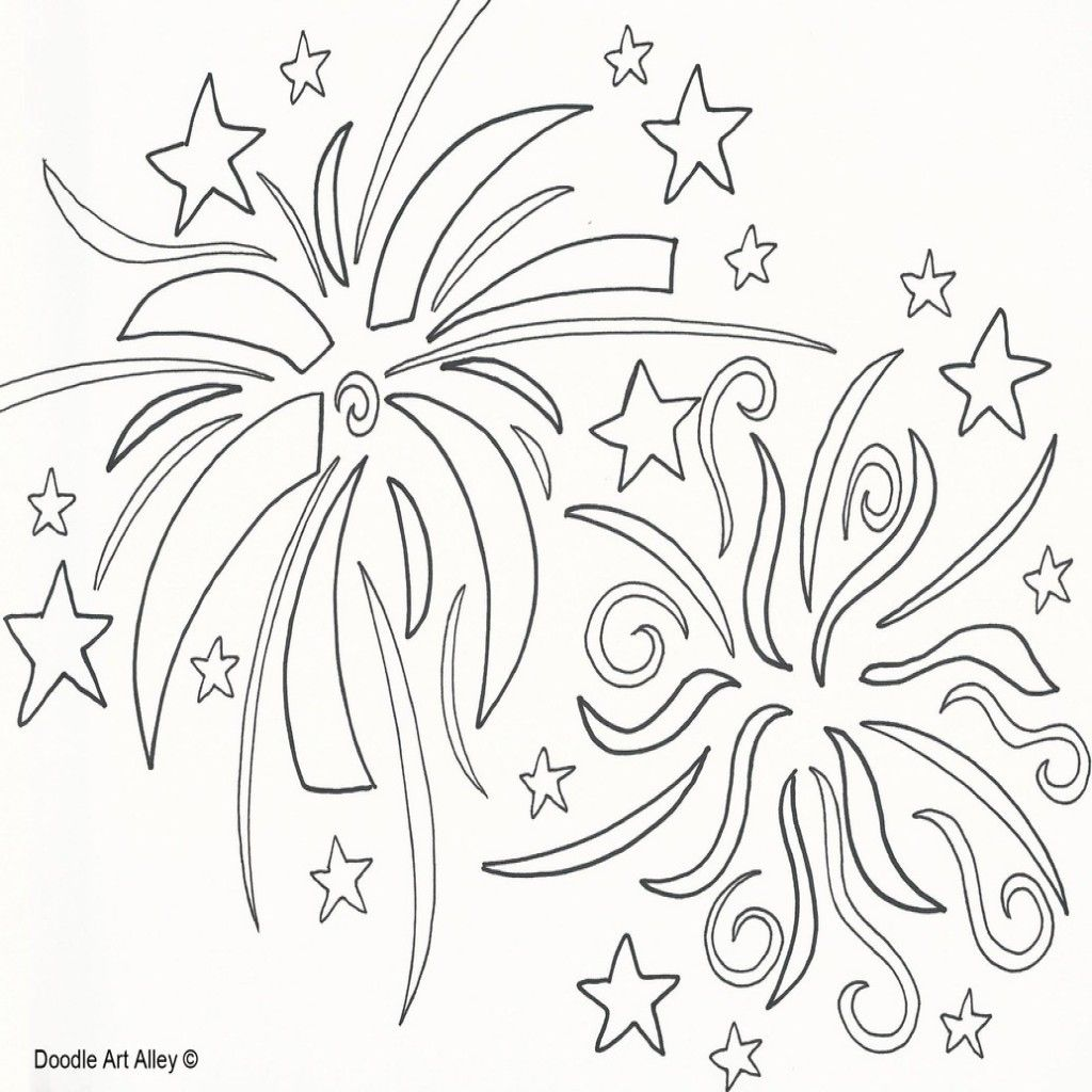 Fireworks Cliparting Page Pencil And In Free Printable Fun Coloring New Year Coloring Pages Coloring Pages Earth Day Coloring Pages