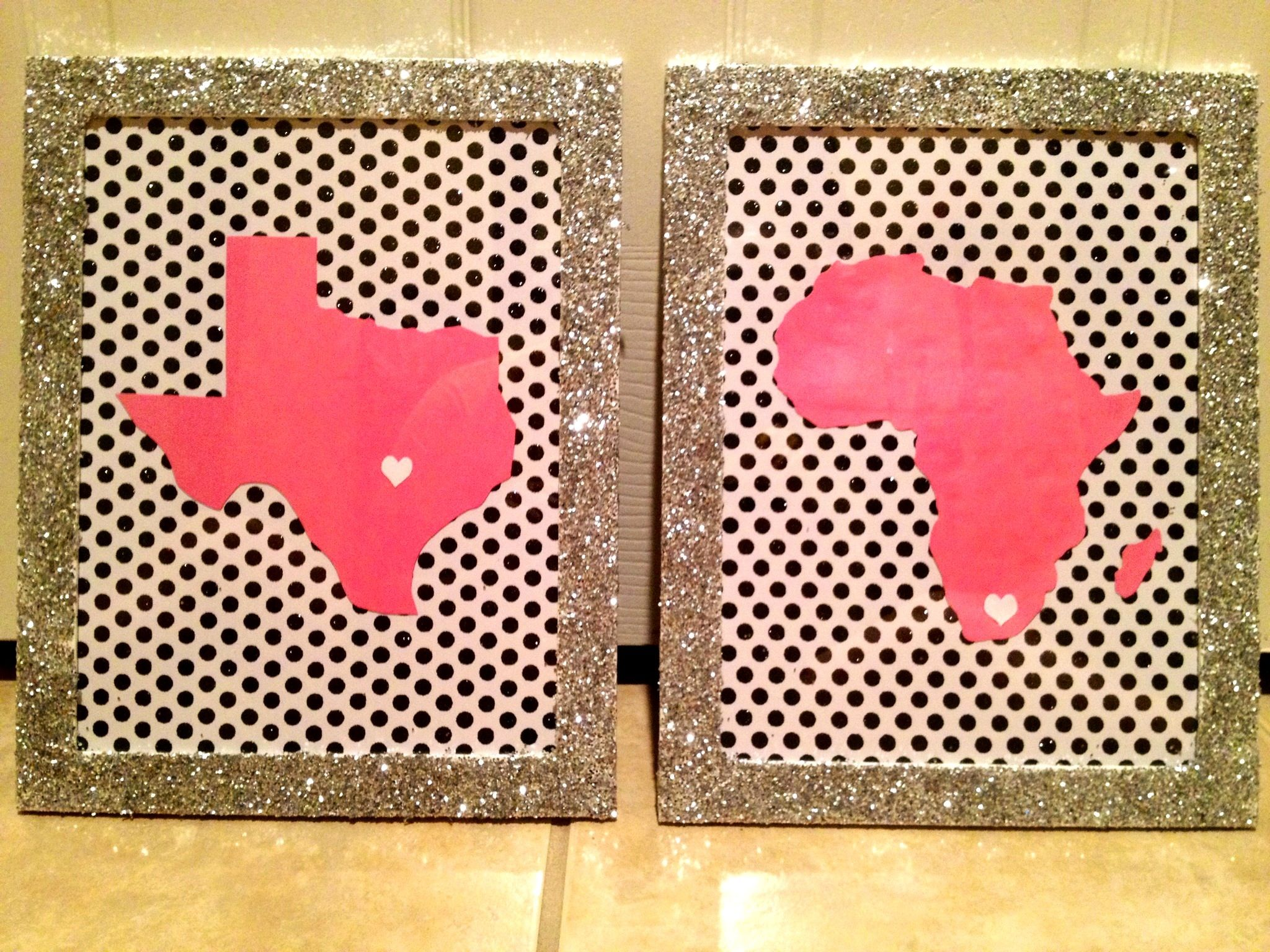 Diy Mod Podge Glitter Onto Some Cheap Frames And Use