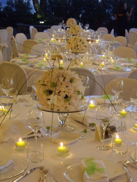 Risultati immagini per addobbi tavoli ricevimento nozze sala decoraciones de mesa - Composizioni floreali per tavoli ...