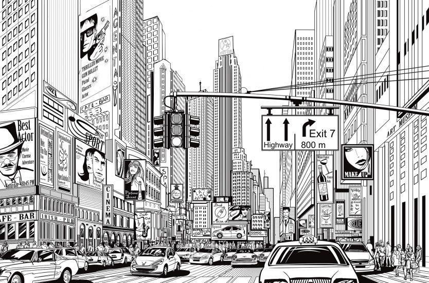 Cartoon City Cartoon city Wall murals and Walls