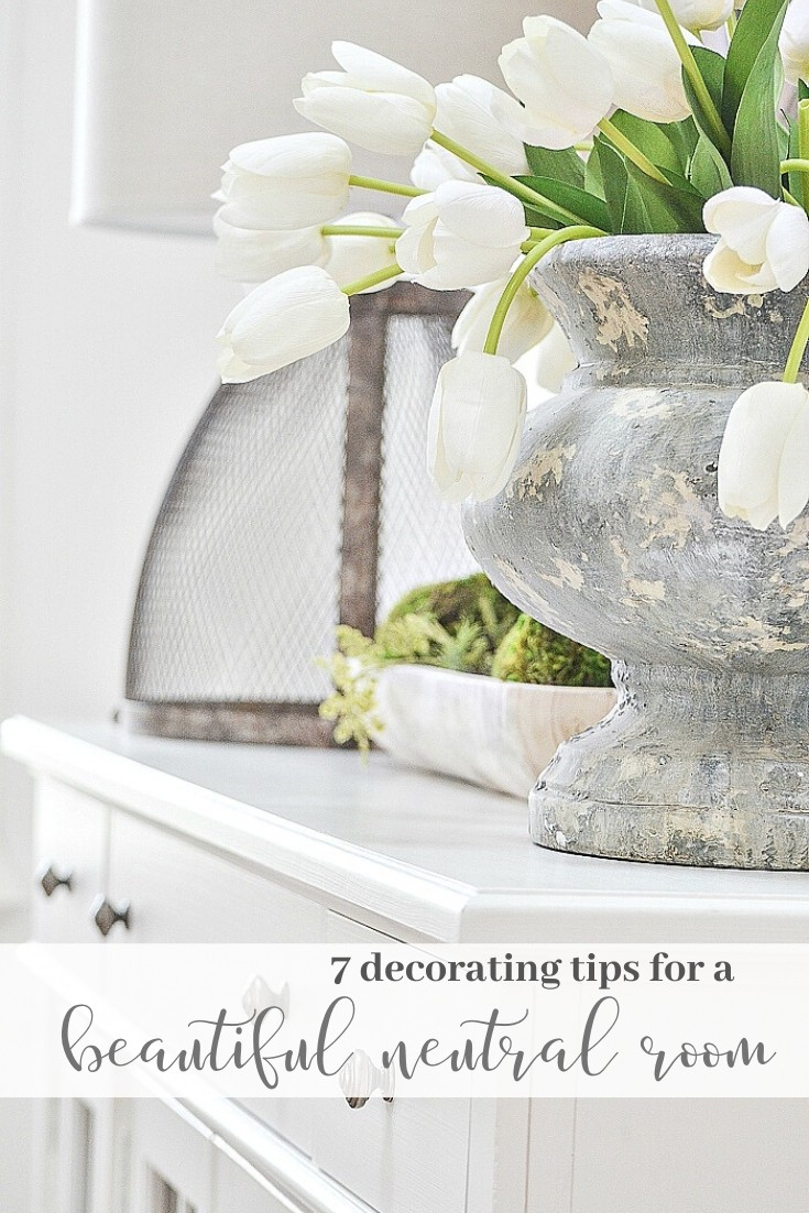 DO YOU LOVE NEUTRALS? Here are 7 fabulous tips for neutrals done right! #homedecor #homedecorinspiration #homedecorideas #decorating #easydecorating #beautifulhome #decoratingwithneutrals #stonegable #stonegableblog