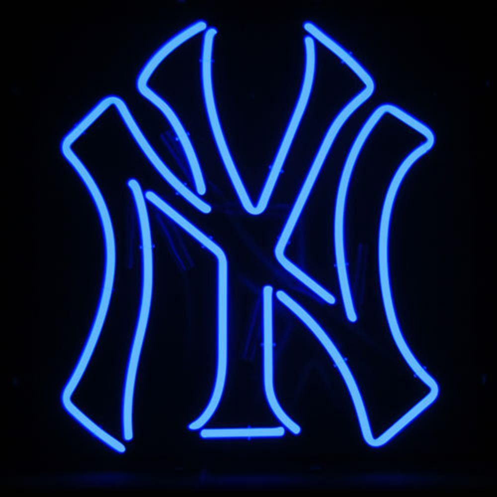 New York Yankees Mlb 23 Inch Team Neon Sign New York Yankees New York Yankees Logo Yankees Logo