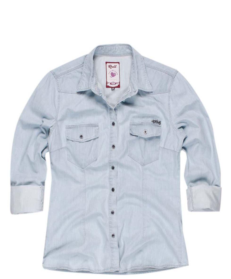 KHELF- Camisa jeans  )  cd01f95da28