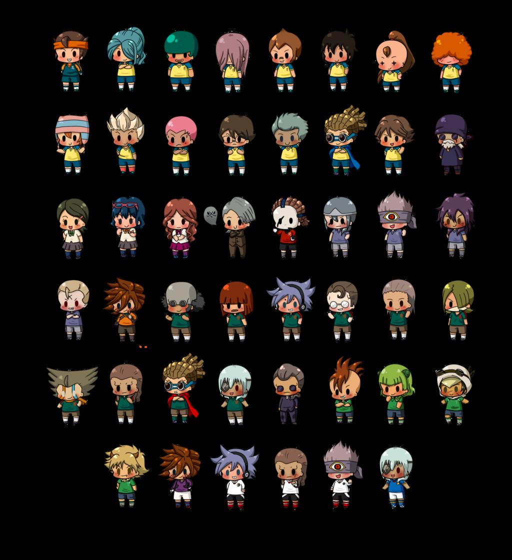 pixel art inazuma eleven go