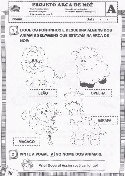 Projeto Arca De No C3 A9 Animais Para Imprimir Atividades 289 29