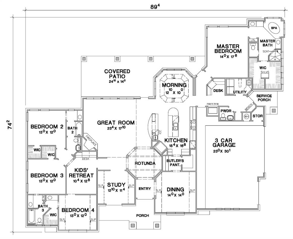 The Taylor 4629 4 Bedrooms And 3 Baths The House Designers House Plans How To Plan European House