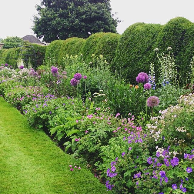 This Is One Beautiful Herbaceous Border At The Bishop Of Norwich Garden In Norfolk Stunning Place Garden Gardenin Herbaceous Border Instagram Perennials